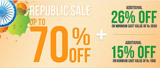 Jabong Republic Sale: Get Extra 26% OFF on Already Upto 70% Discounted Products