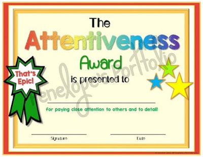 The Attentiveness Award