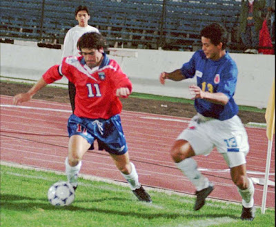 Chile y Colombia en partido amistoso, 22 de abril de 1998