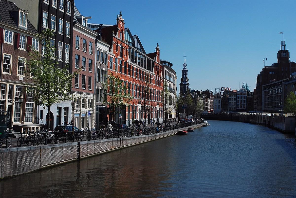 centre d'Amsterdam avec ses nombreux canaux