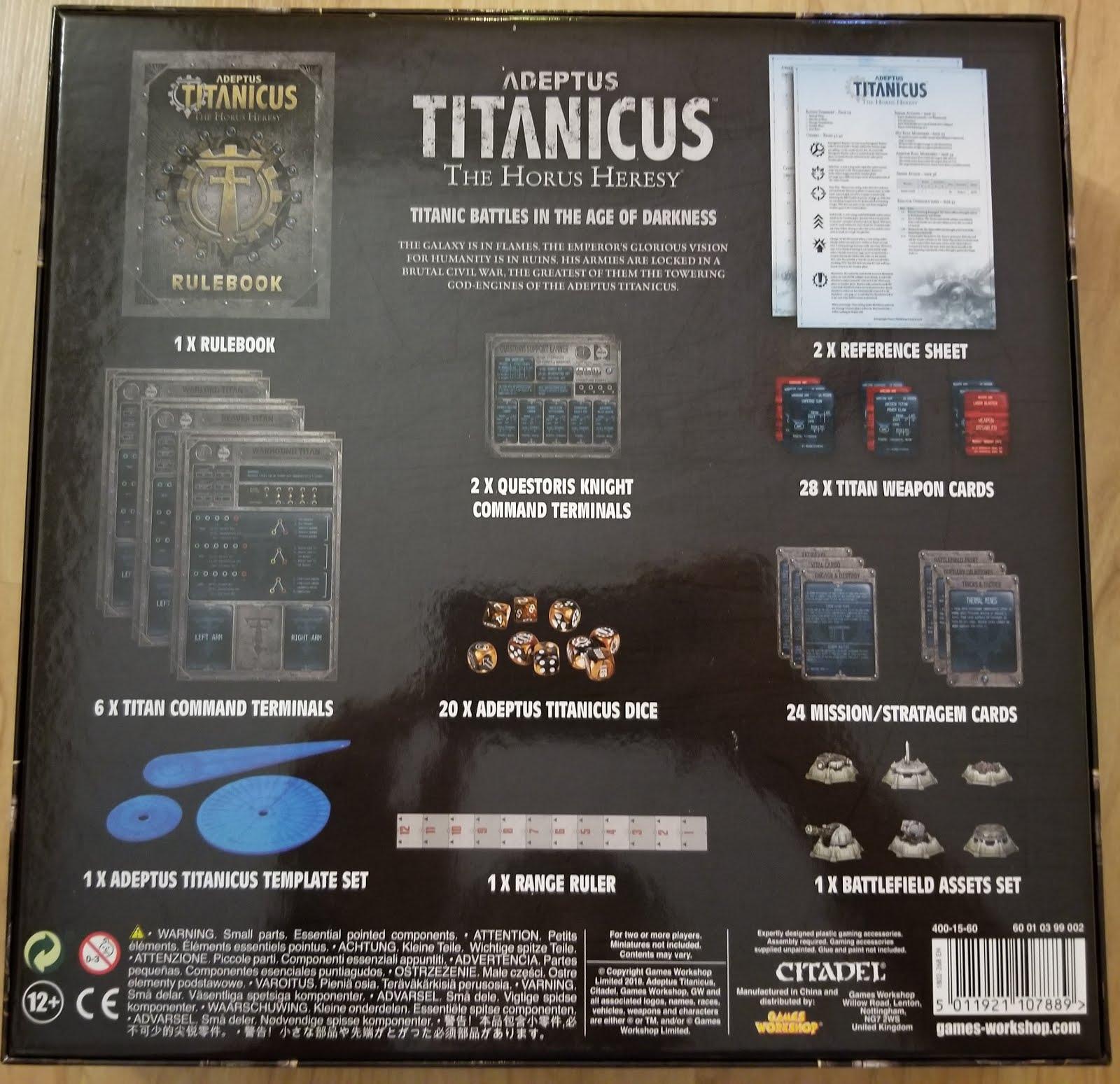 Titan Owners Club: Adeptus Titanicus- The Rules Set