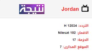 تردد قناة الأردن Jordan الجديد 2018 على النايل سات