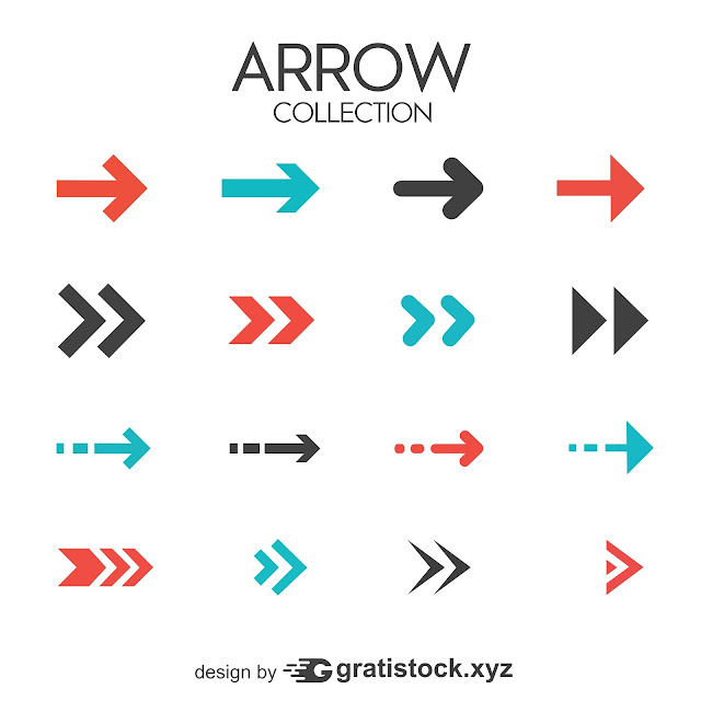 Free Download PNG - Collection-of-modern-arrows-in-flat-design