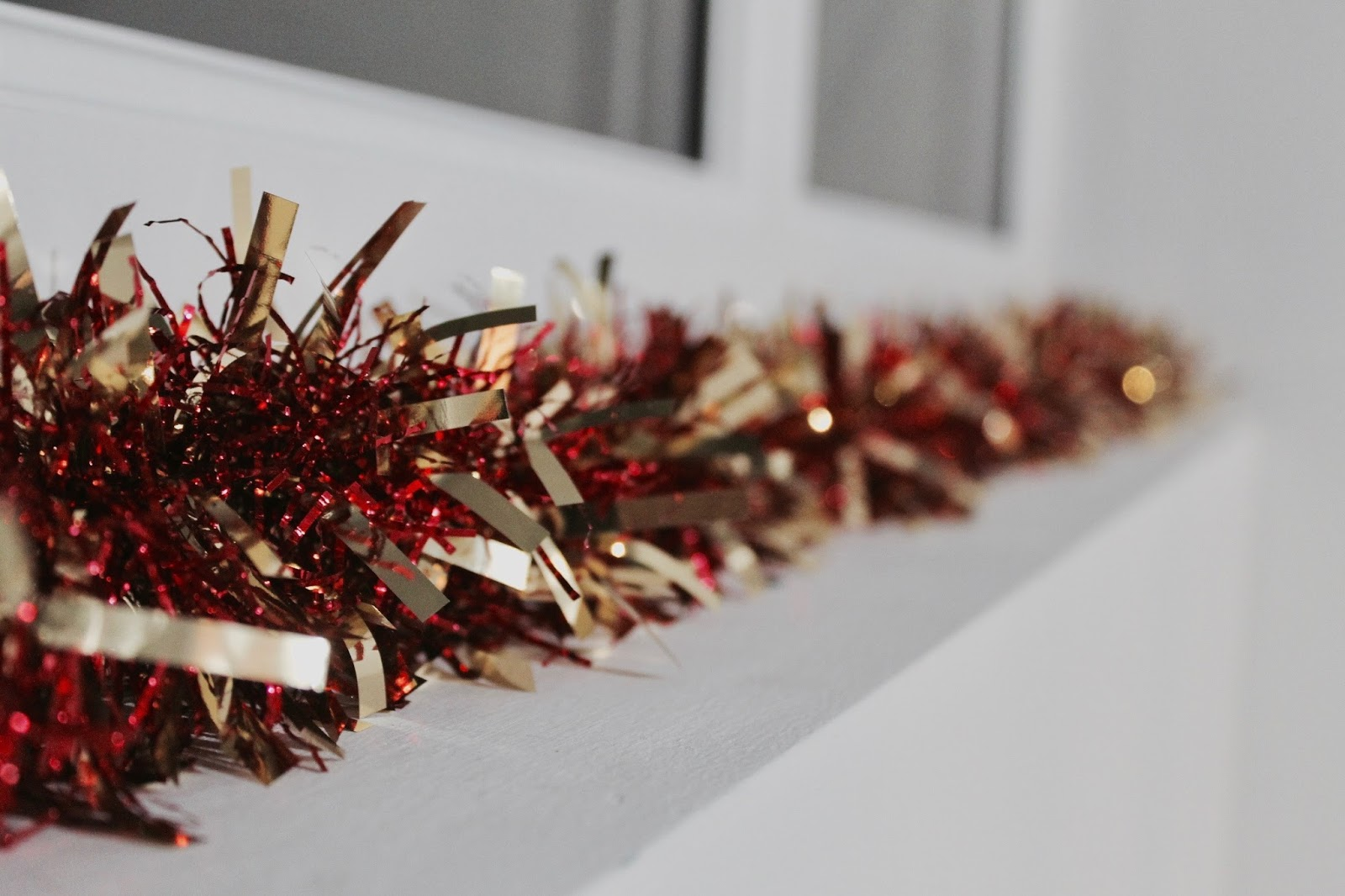 Red and gold tinsel