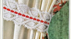 Puntilla para sujetar cortinas - con patrón
