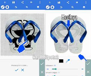Cara Edit Foto Ukir Sandal Unik Banget
