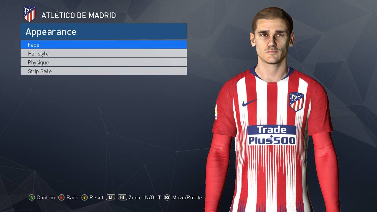 PES 2017 Griezmanne Face v4 Fix by Ahmed Tattoo & Facemaker