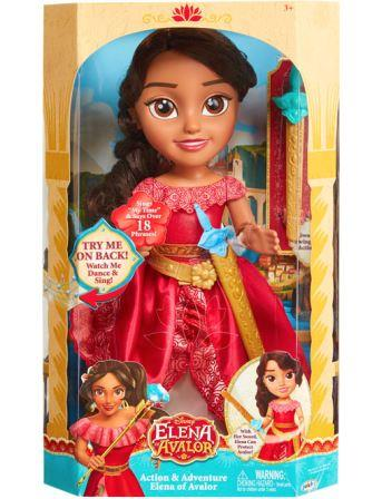 Elena of Avalor Action & Adventure Doll in box