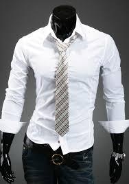 Beyaz slim fit uzun kollu gömlek