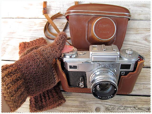 шарф капелюх мітенки спицями гачком scarf hat fingerless crochet knited