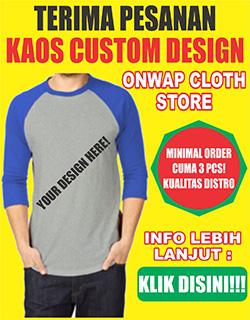 kaos custom design murah kualitas distro