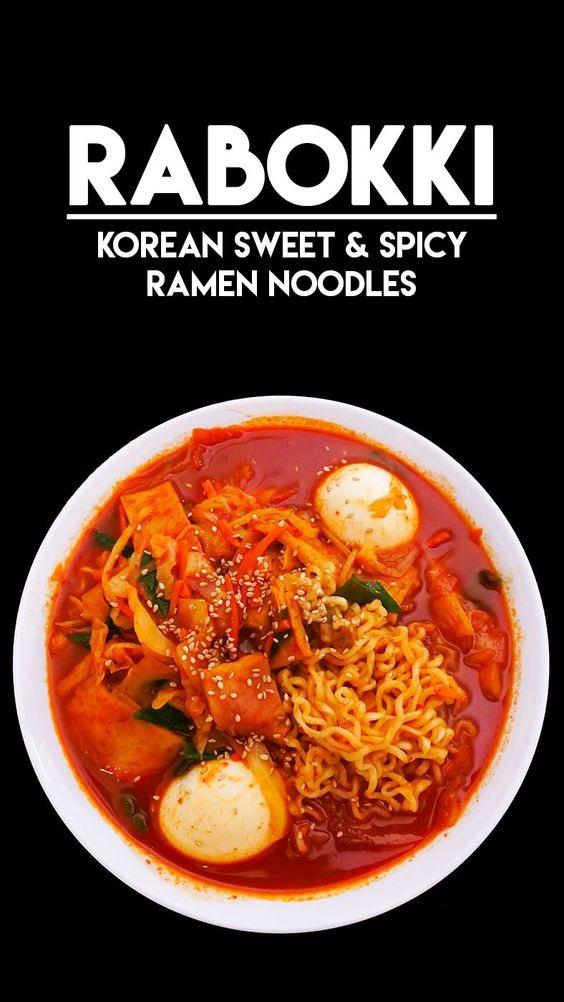 Rabokki Korean Sweet & Spicy Ramen