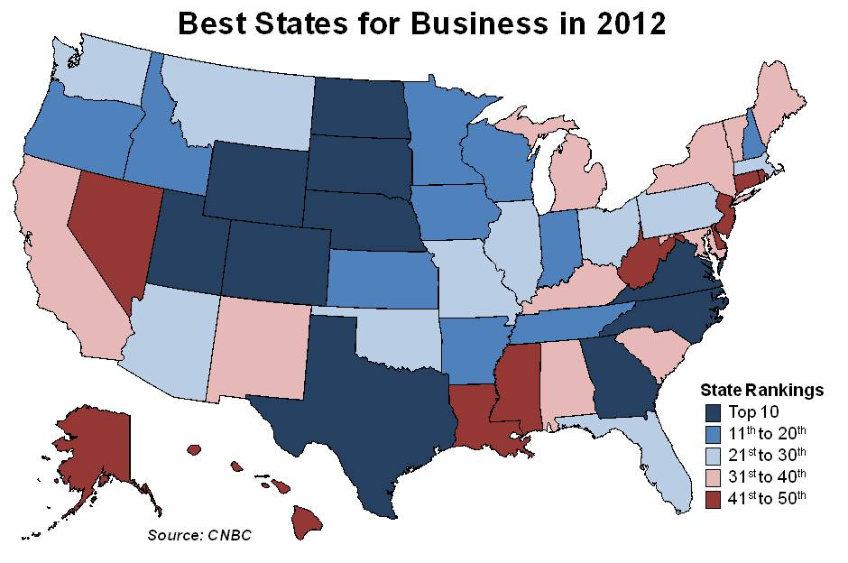 Oregon Workforce And Economic Information Oregon Improves Ranking Among Best States For Business