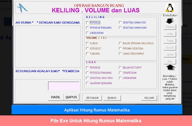 File Exe Untuk Hitung Rumus Matematika
