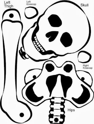 Esqueleto de Papel para recortar e montar