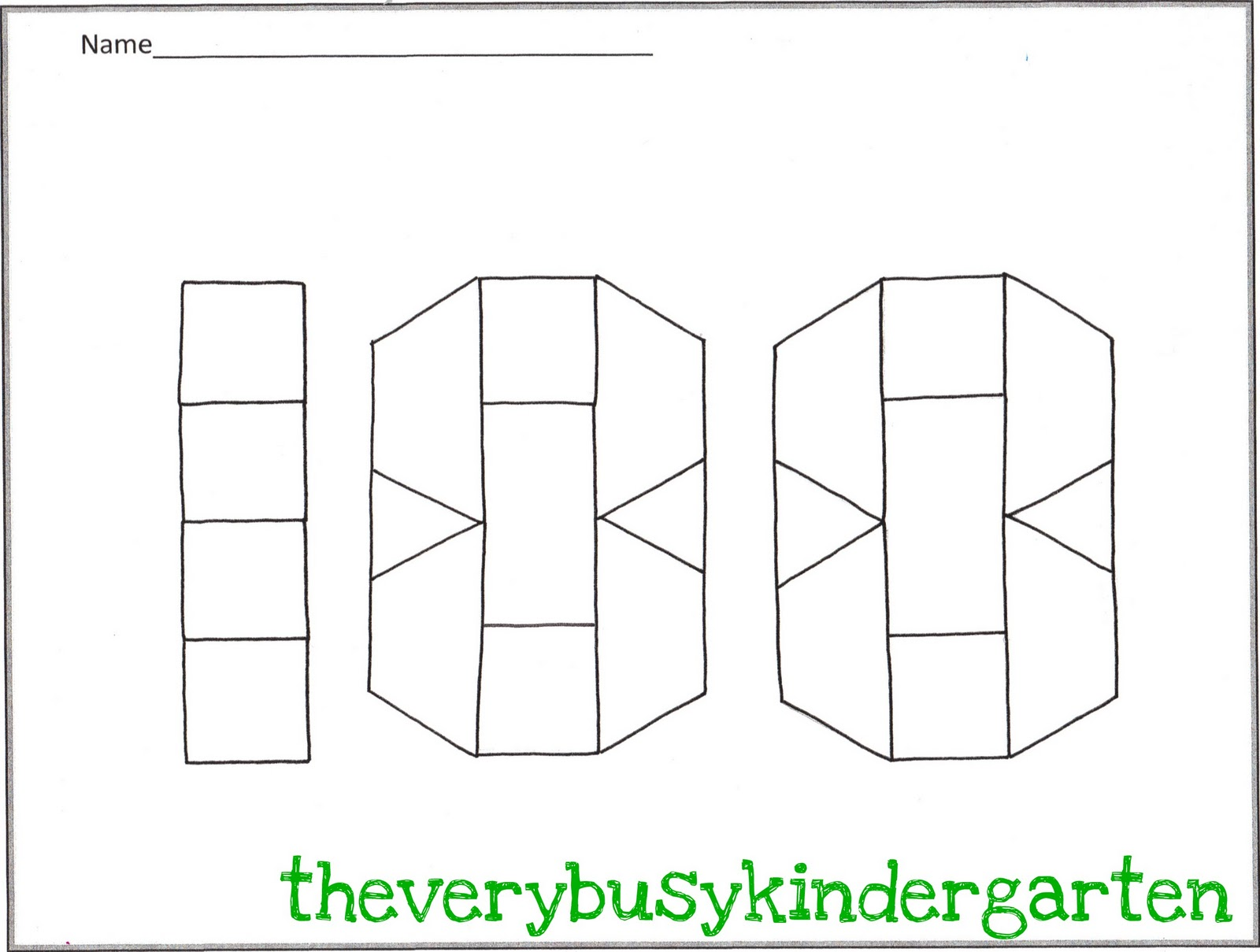 The Very Busy Kindergarten February Math Stations