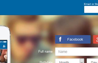 Como iniciar sesion en SKOUT con Facebook