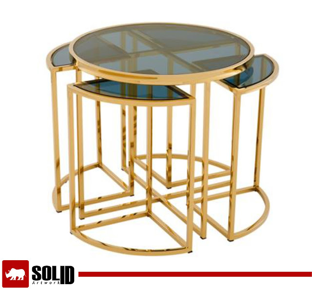 Padova side Table - Gold finish