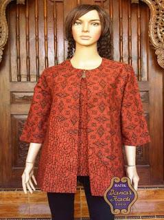 contoh baju kerja batik wanita 2018
