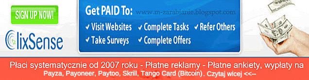 Kliknij obrazek i przeczytaj więcej, o zarabianiu w ClixSense