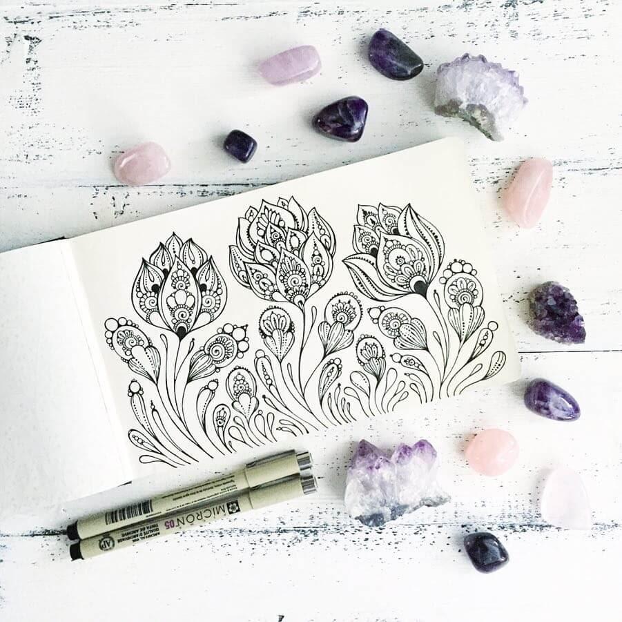 07-Ksenya-Gromova-Ink-Mandala-and-Flower-Drawings-www-designstack-co