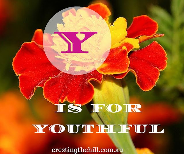 The A-Z of Positive Personality Traits - Y is for Youthful - www.crestingthehill.com.au