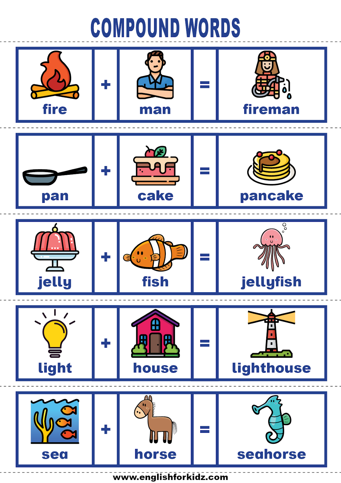 English For Kids Step By Step Vocabulary Cards Compound