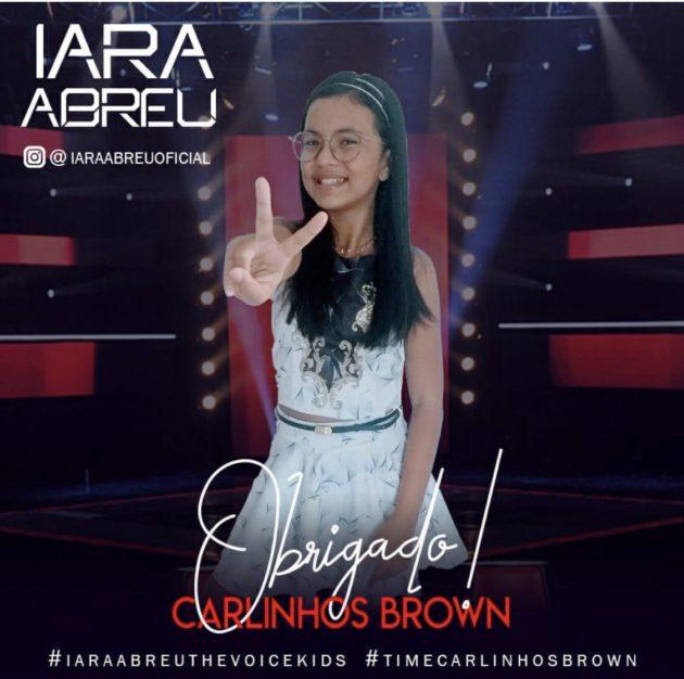 Natalense de 11 anos entra para o 'Time do Brown' e segue no The Voice Kids da Globo