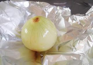 cebolla preparada para asar