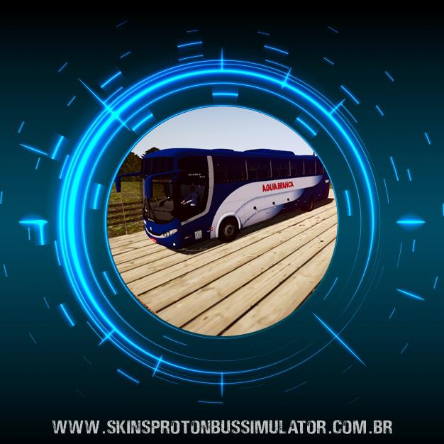 Skin Proton Bus Simulator - Comil Campione 3.65 VW 18.330 Euro V Águia Branca