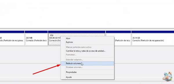 Como crear una nueva particion en Windows