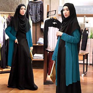 Busana Muslim Syari Hitam Elegan