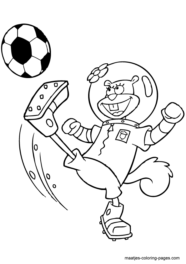 Cute Animals Playing Soccer Wallpaper Spongebob And Sandy Coloring Pages