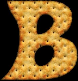 Alfabeto hecho con Galletas Saladas. Alphabet done with Crakers.