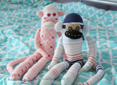 Make your own cute sock monkeys
