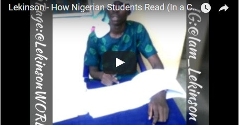Watch Hilarious video!! How Nigeria students read by Lekinson