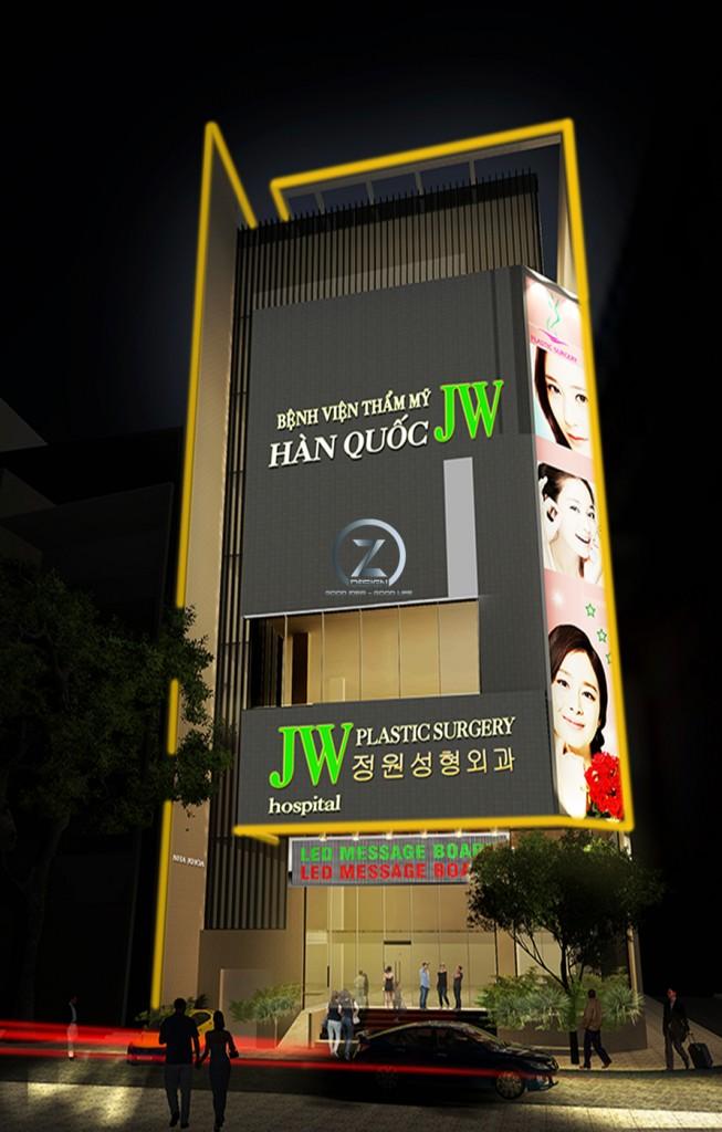 Thiết kế thi công thẩm mỹ viện Hàn Quốc JW