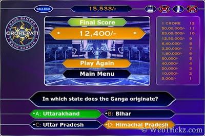 Play official kaun banega crorepati game and win 1 crore virtual cash.