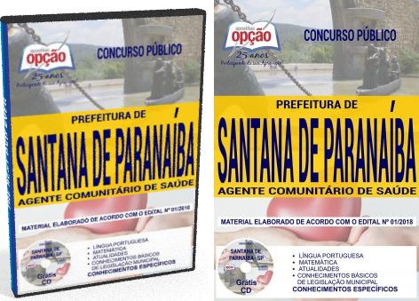 apostila Prefeitura de Santana de Parnaíba 2018 agente Comunitário de Saúde