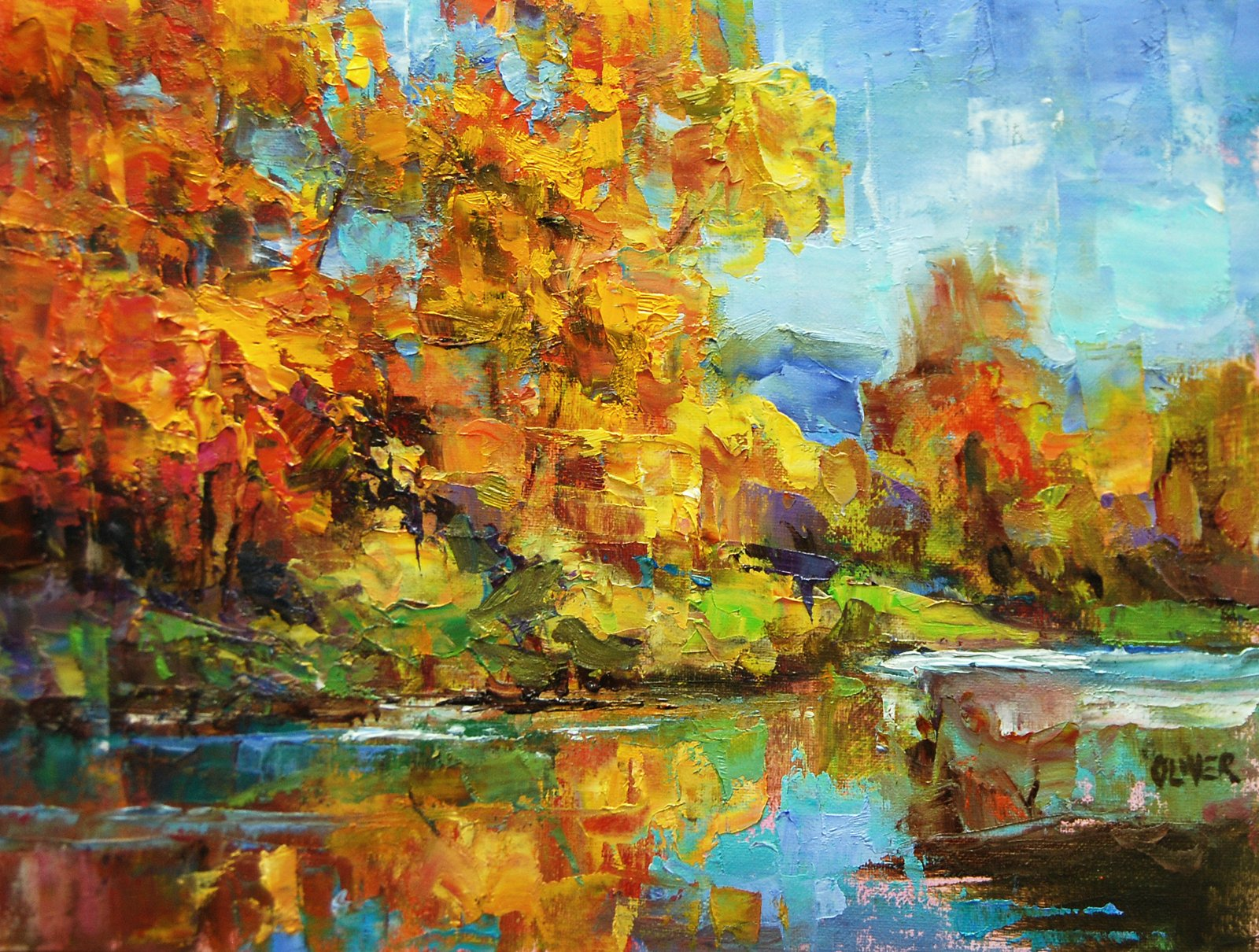 Art Talk Julie Ford Oliver Fall Colors Along the River