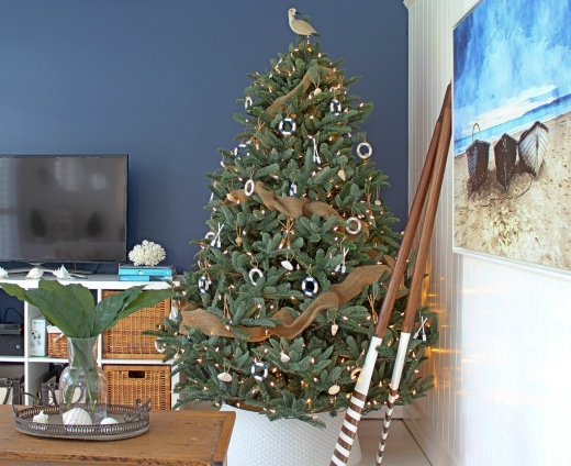 Seagull Coastal Beach Tree Topper