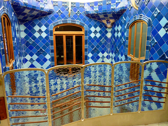 Interior patio Casa Batlló en Barcelona