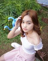 foto Angel Lisandi Putri pemeran pendekar bercadar merah fatih di kampung jawara