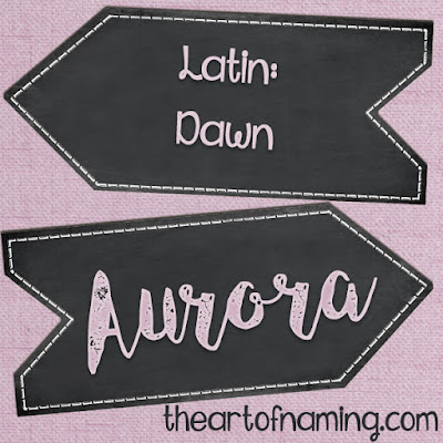 The Art of Naming - latin names for girls - popular goddess name