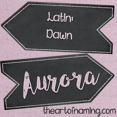The Art of Naming - latin names for girls - popular goddess name