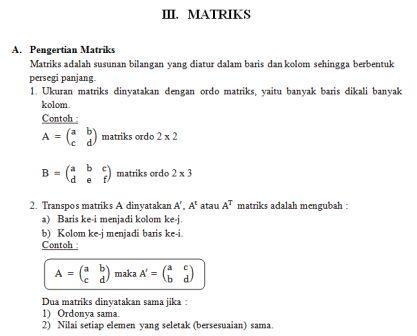 Materi Matematika Kelas 12 Guru Ilmu Sosial