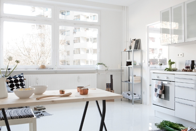 cocina minimalista estilo nórdico
