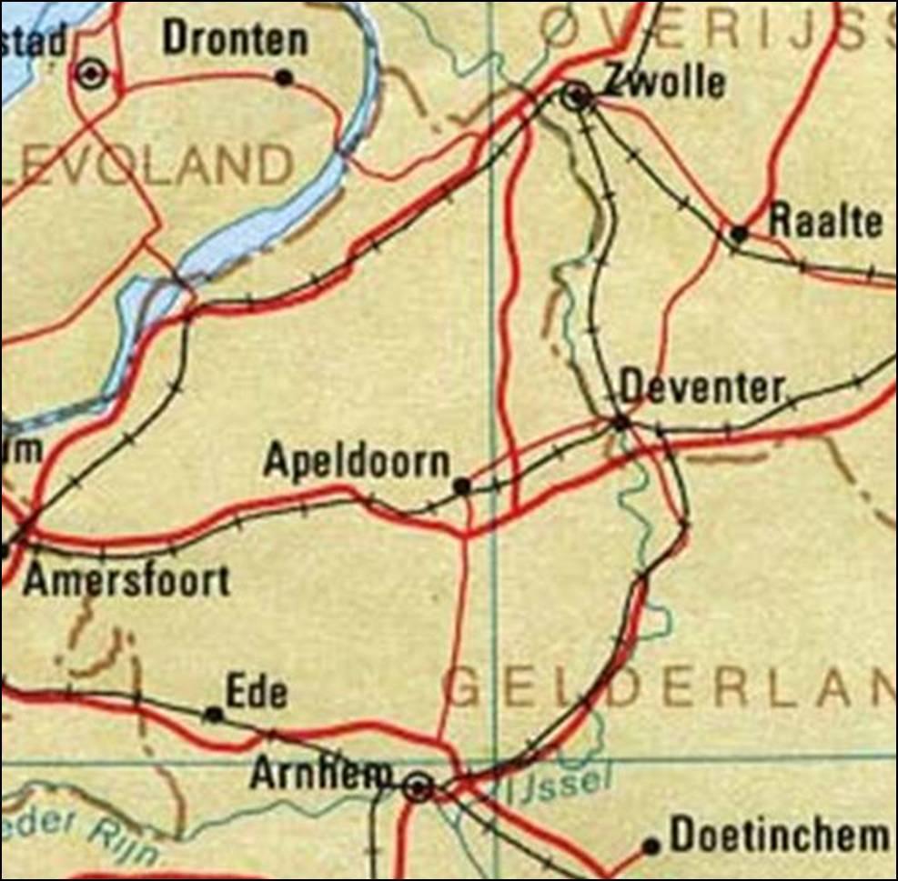 Kaart Gelderland Veluwe Vakantie Nederland En Nationale Parken