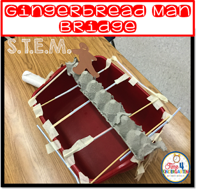 Gingerbread Man STEM, STEM kindergarten project