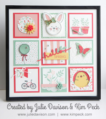 Stampin' Up! Spring Sampler Class Home Decor for Easter #stampinup 2016 Occasions Catalog, Sale-a-Bration #saleabration www.juliedavison.com